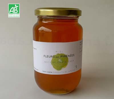 miel bio Fleurs Pyrénées Châtaignier 500g